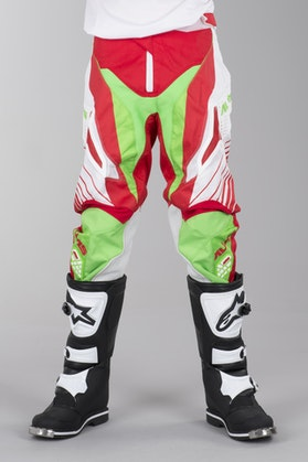 Alias A1 Motocross Pants Neon-Green-Red