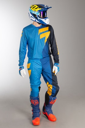 Shift Whit3 Tarmac MX Clothes Blue-Yellow