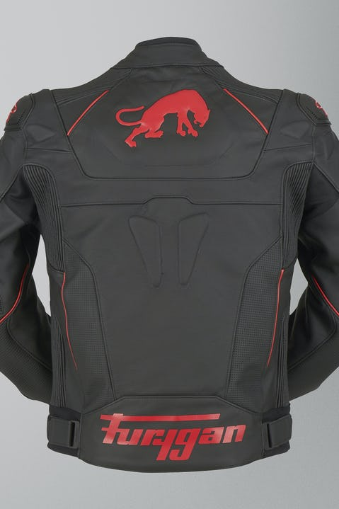 Chaqueta de cuero Furygan Raptor Evo Negro-Rojo