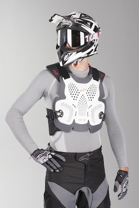 Alpinestars A-4 Max Chest Protector White-Antracit-Red