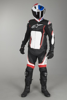 Alpinestars Motegi V2 2-Piece Leathers Black-Red-White
