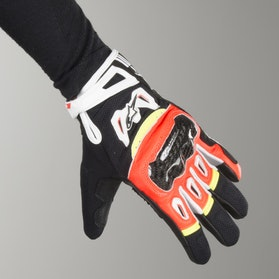Rękawice motocyklowe Alpinestars SMX-2 Air Carbon Czarno-Czerwono-Żółte