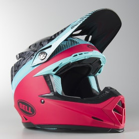Bell Moto-9 Mips Chief MX Helmet Black-Pink-Blue