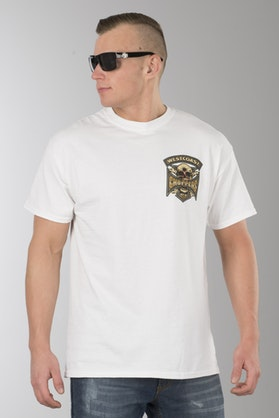 T-Shirt West Coast Choppers Hipster Hunters Biały