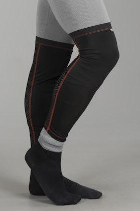 Skarpety pod Ochraniacze Kolan Acerbis X-Strong Elastyczne Czarno-Czerwone