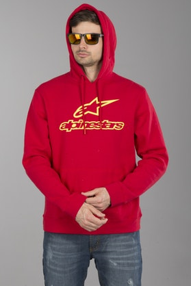 Alpinestars Always Hoodie Red-Yellow