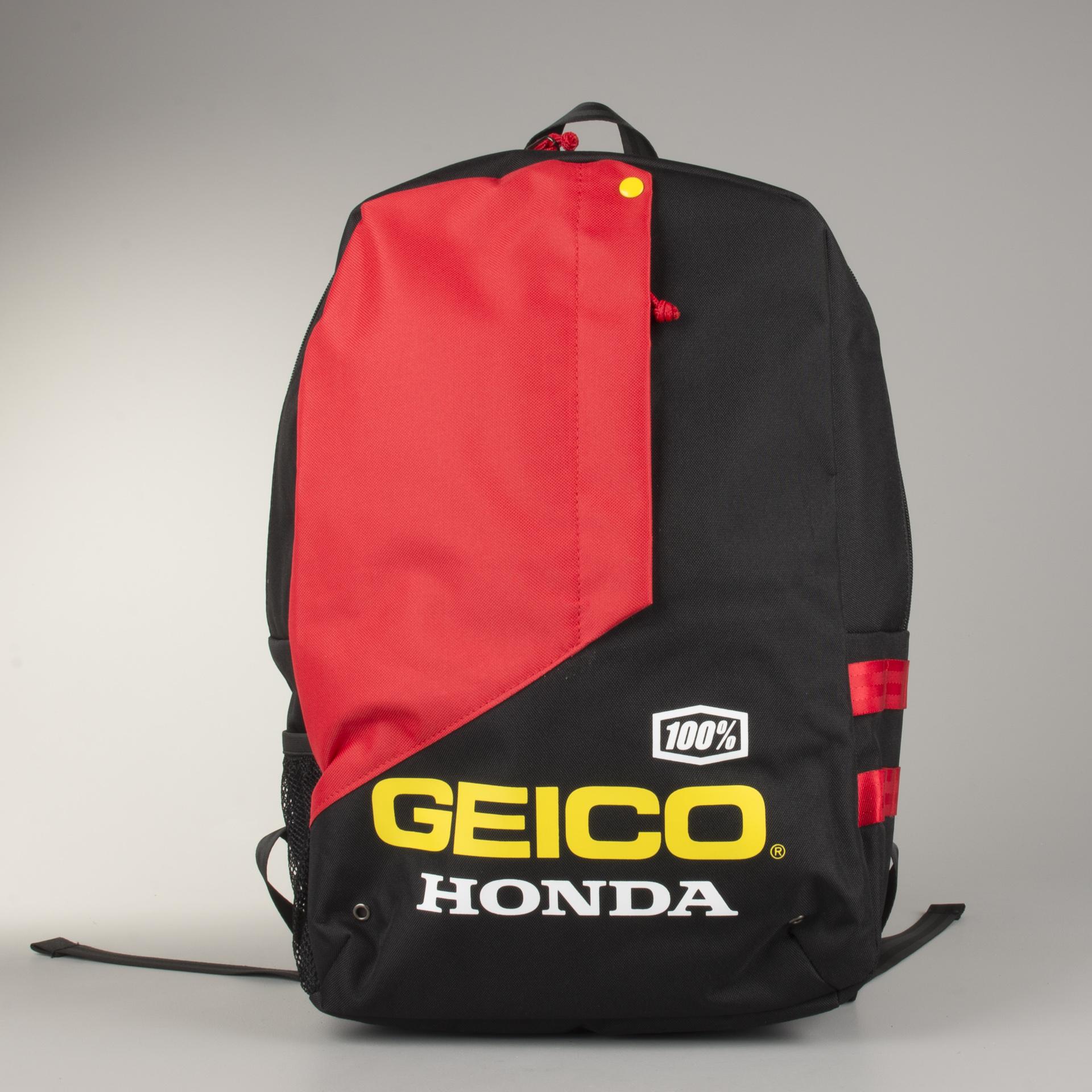 Ryggsäck 100% Geico Honda Haversack Svart Nu 20% rabatt