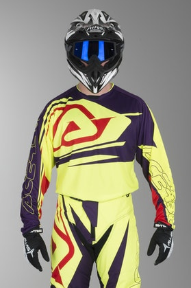 Acerbis MX Spellblast Motocross Jersey Yellow-Purple