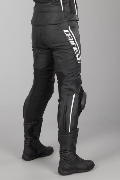Spodnie Skórzane Damskie Dainese Delta 3 Czarne-Biale