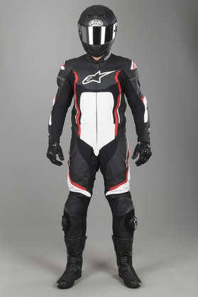 Alpinestars Motegi V2 Leathers Black-Red-White