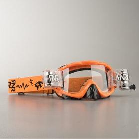 Gogle cross Rip 'n' Roll Hybrid Neonowe Pomarańczowe