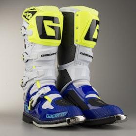 Motokrosové Boty Gearna SG-12 Bílá-Modrá-Neonová Žlutá
