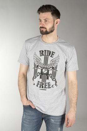 Koszulka Course Ride Free Szara