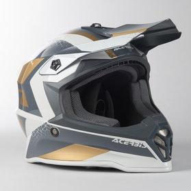 Acerbis Steel Junior MX Helmet Gold-Grey