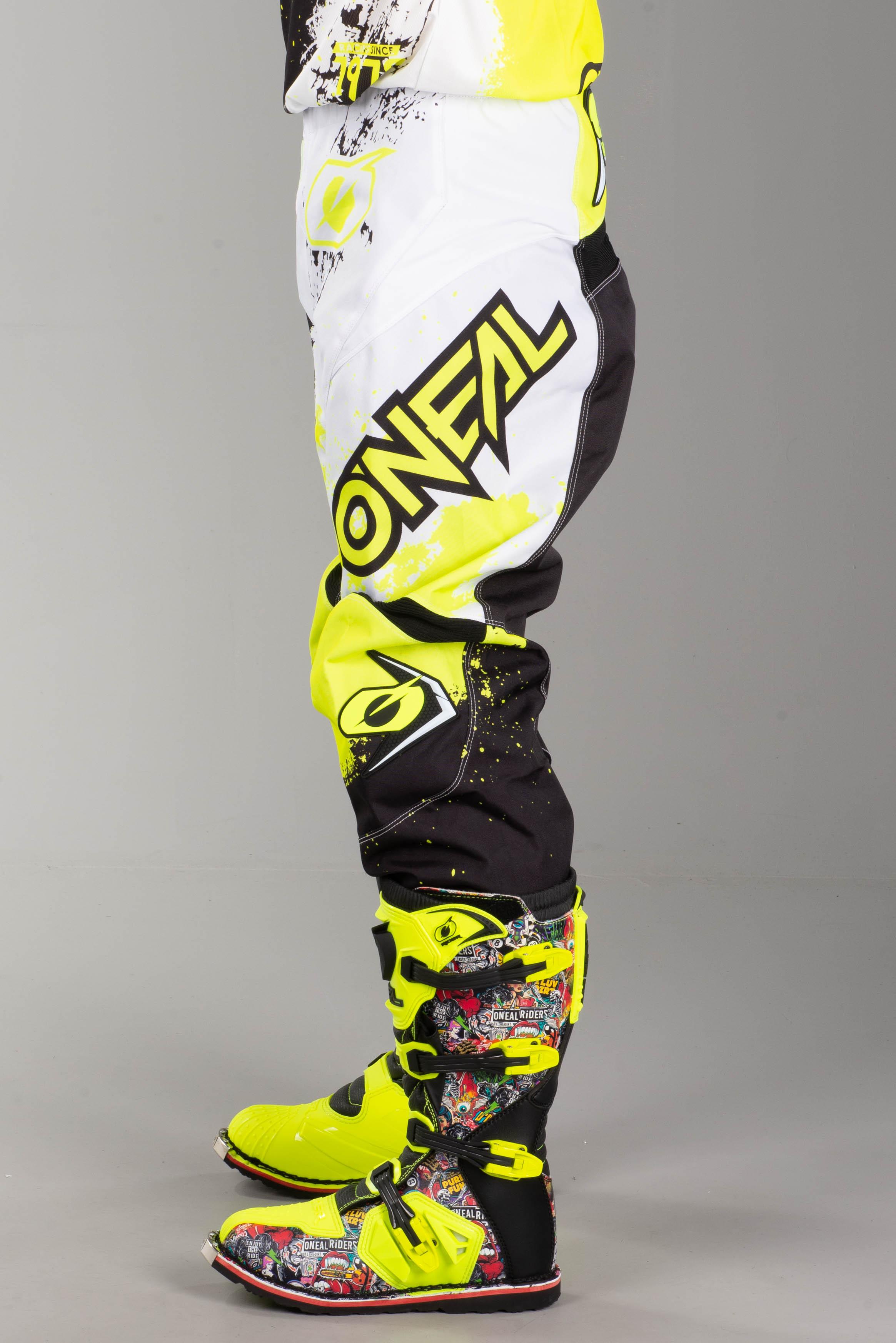broek zwart met geel