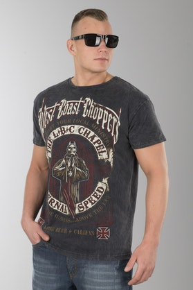 T-Shirt West Coast Choppers The Chapel Anthracite Vintage Czarny