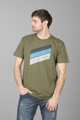T-Shirt Alpinestars Beckton Zielony Wojskowy