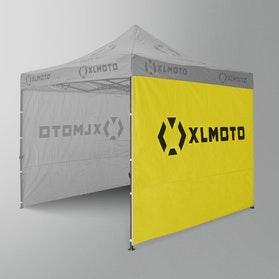 Ściany Pawilonu Wyścigowego XLMoto 3szt. Żółte