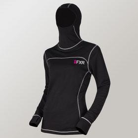 FXR Vapor 20% Merino Balaclava Women's Baselayer Jersey Gray-Fuchsia