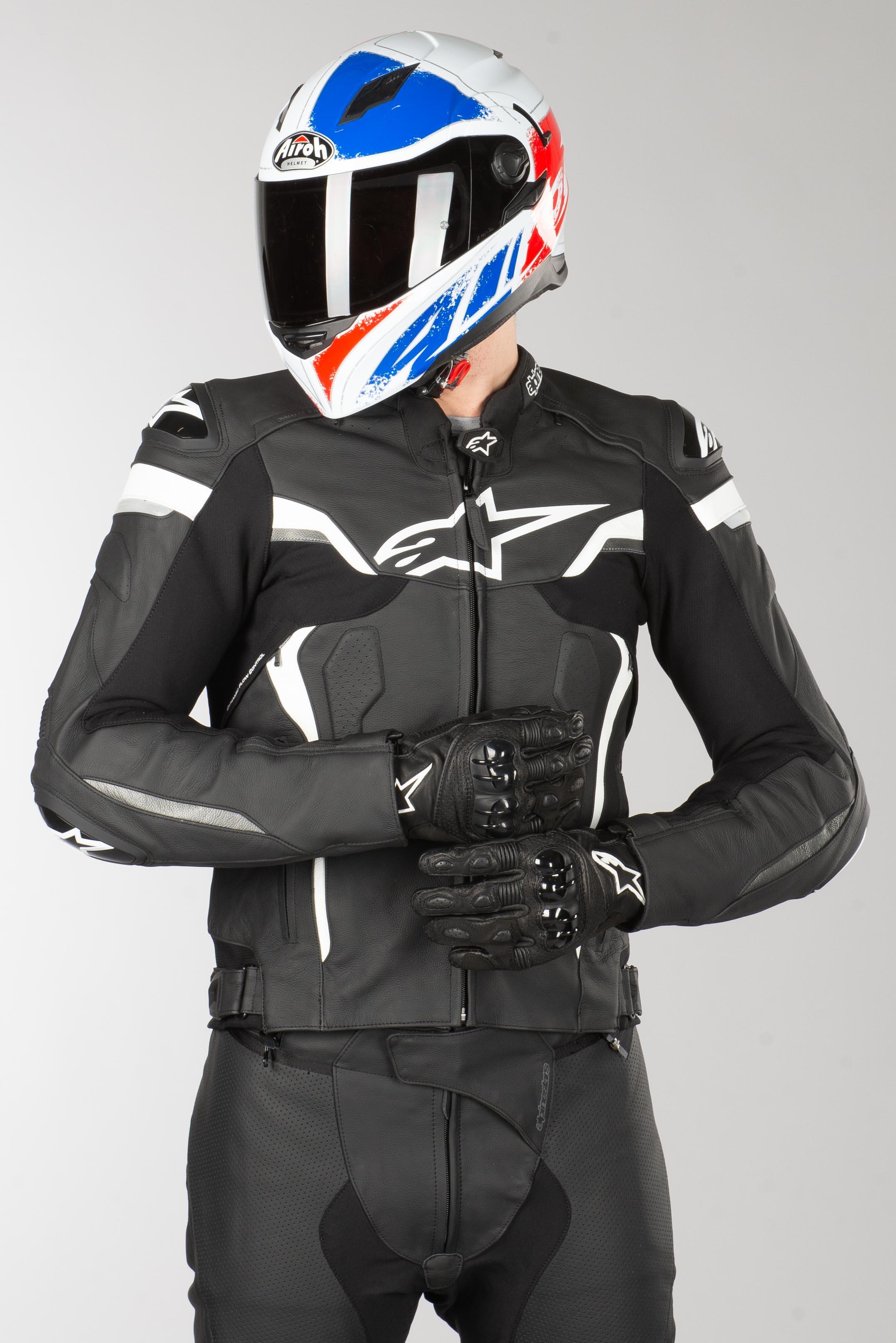 Alpinestars Celer V2 Leather Jacket Black White
