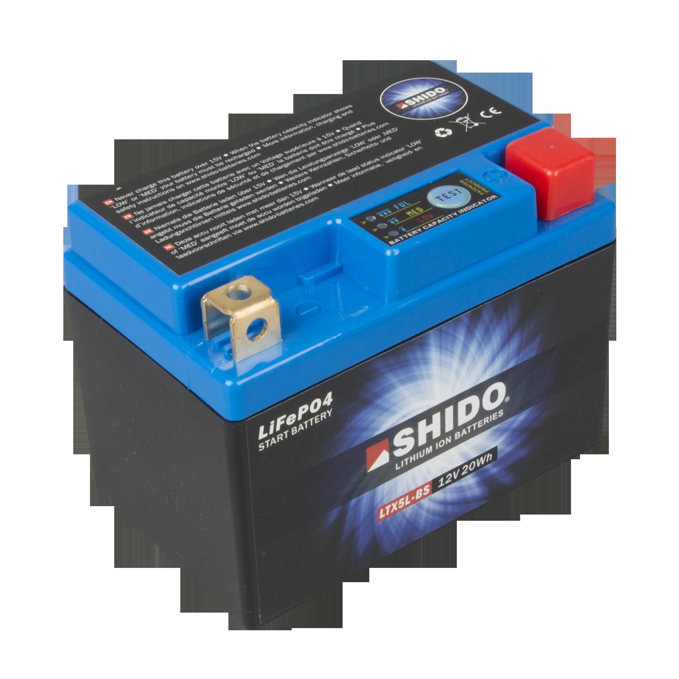 SHIDO 51913 LION S Batterie Moto Lithium Ion