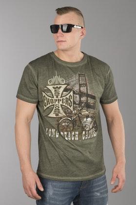 T-Shirt West Coast Choppers Bridge Oliwkowa Khaki