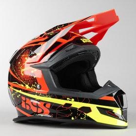 IXS 361 2.0 MX Helmet Red-Black-Yellow