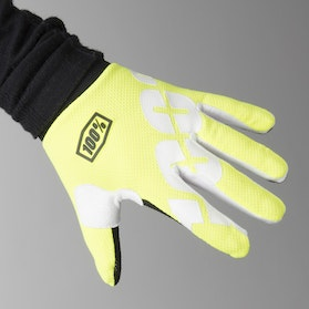 100% Youth iTrack Gloves Neon Yellow