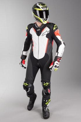Alpinestars Atem V3 Leather Suit Black-White-Red-Fluo Yellow