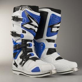 AXO A2 MX Boots White & Blue