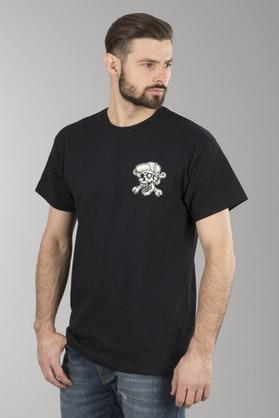 T-Shirt Lucky 13 Skull Bro Czarny