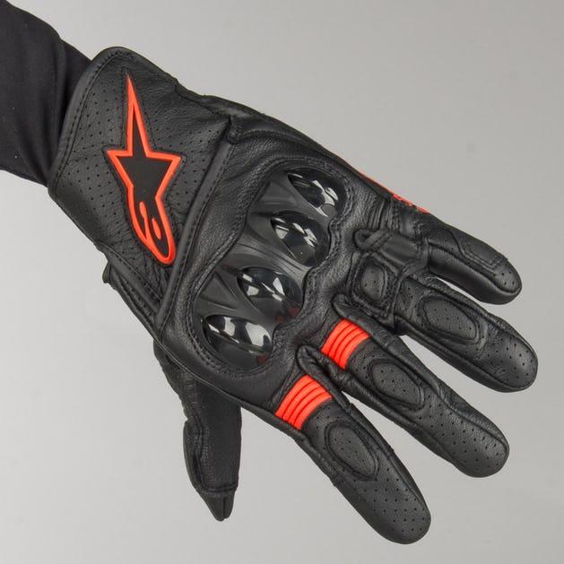 Alpinestars Celler V2 Gloves - Black-Flourescent Red