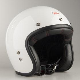Hjelm Bell Custom 500 Vintage, Hvid