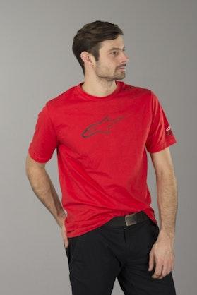T-Shirt Alpinestars Ageless Tech Czerwono-Czarny
