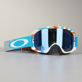 Crossové Brýle Oakley O2 MX RPM Orange-Modrá