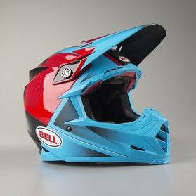 Bell Moto-9 Flex Hound MX Helmet Cyan-Red