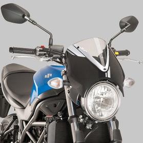 Owiewka Puig Retrovision Suzuki Czarna-Przezroczysta