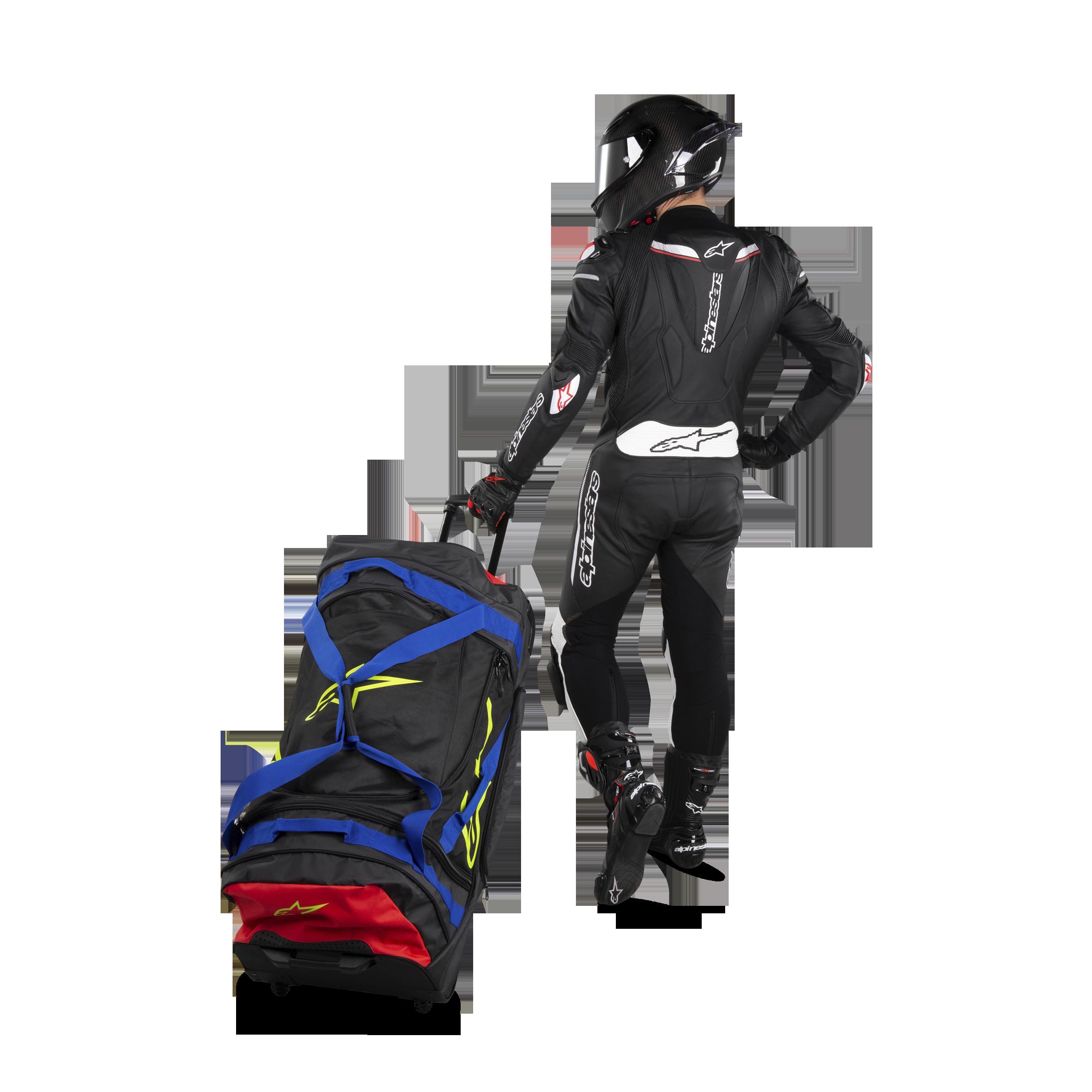 Reisetasche Alpinestars Komodo Travel Bag 150 L schwarz grau gelb fluo