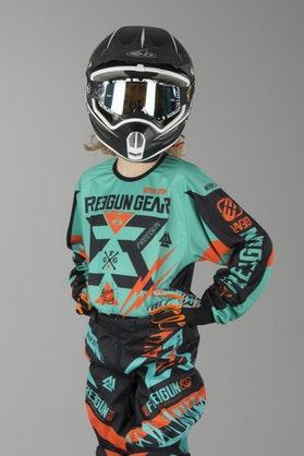 Freegun Trooper Youth MX Jersey Mint & Orange