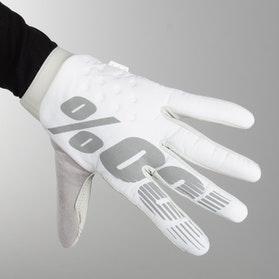 Crosshandsker 100% Brisker, Hvid/Sølv