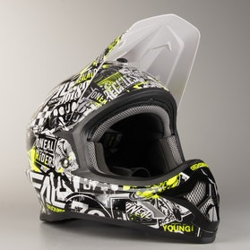 Kask Cross O'Neal 3 Series Attack MX Czarno-HiVis