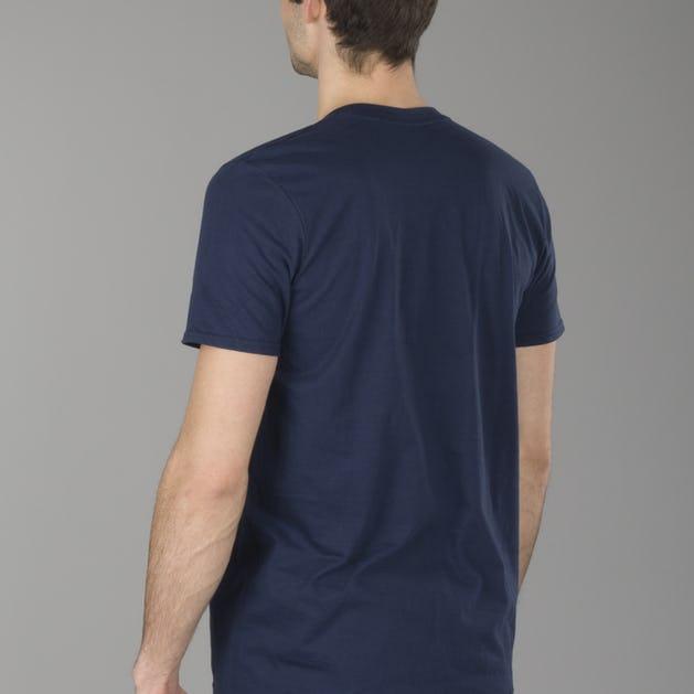 T-shirt XLmoto Helmet Niebieski