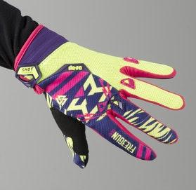 Freegun Trooper Youth MX Gloves Yellow & Magenta
