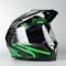 Kask Adventure LS2 FF324 Metro Evo P/J Firefly Modułowy Czarny Matowy-Zielony Neonowy