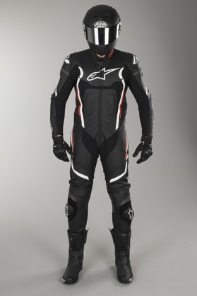 Alpinestars Motegi V2 Leathers Black-White-Red