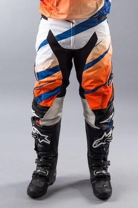 Spodnie Alpinestars Techstar Venom pomarańczowo-biało-granatowe