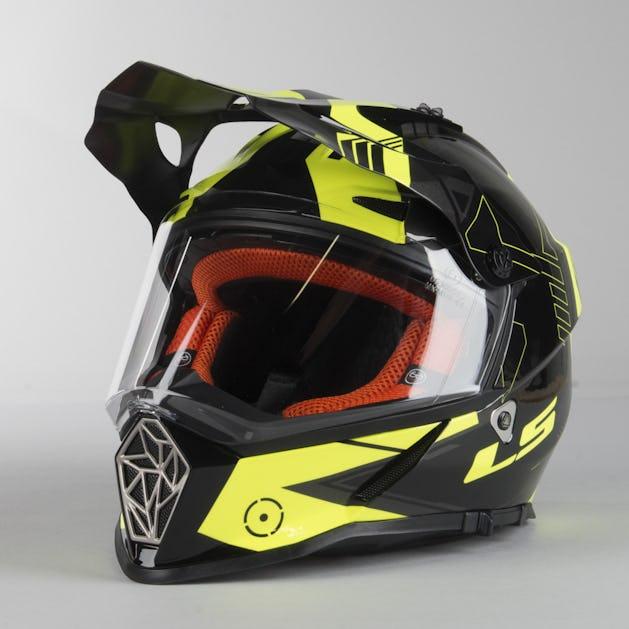 outlet online clearance prices exclusive deals LS2 MX436 Pioneer Trigger Adventure Helmet Black Hi-Vis Yellow ...
