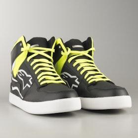Alpinestars Stadium MC-Shoes - Black-Yellow-Flourescent Red