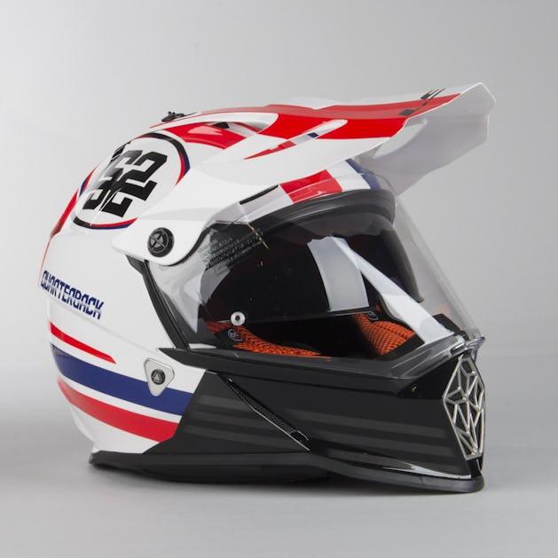 best sale pretty cheap amazing price LS2 MX436 Pioneer Quarterback Adventure Helmet White-Red-Blue ...