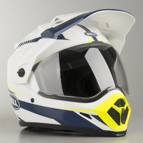 Bell MX-9 ADV Torch Adventure Helmet White-Blue-Yellow